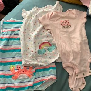Carters rompers and onesie!